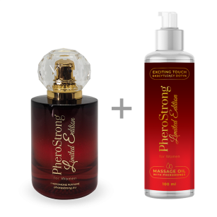 PROMOCJA -25% - PheroStrong Limited Edition for Women - Perfum 50ml + Massage Oil 100ml