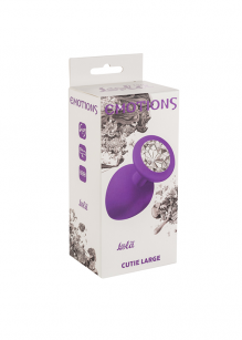 Anal Plug Emotions Cutie Large Purple clear crystal