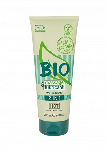HOT BIO massage & lubricant waterbased 2in1 200 ml