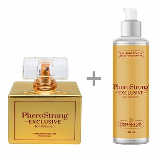 PROMOCJA -25% - PheroStrong Exclusive for Women - Perfum 50ml + Massage Oil 100ml