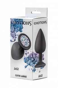Anal Plug Emotions Cutie Large Black Clear crystal