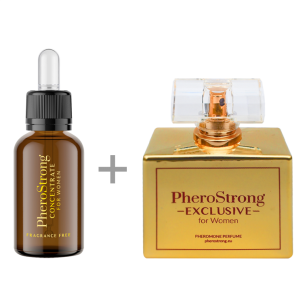 PROMOCJA -25% - PheroStrong EXCLUSIVE for Women - Perfum 50ml + Concentrate 7,5ml - Perfumy z Feromonami + Bezzapachowy Koncentrat Feromonów