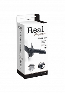VIBRATORE STRAP ON CAVO REAL RAPTURE 8 BLACK WITH BALLS