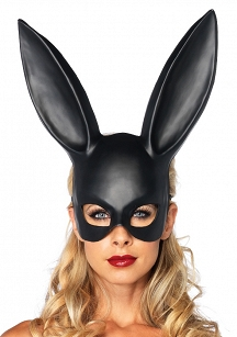 Maska-MASQUERADE RABBIT MASK BLACK