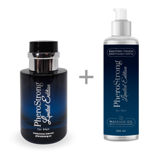 PheroStrong Limited Edition for Men - Perfum 50ml + Massage Oil 100ml