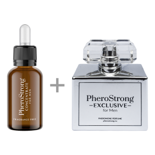 PROMOCJA -25% - PheroStrong EXCLUSIVE for Men - Perfum 50ml + Concentrate 7,5ml - Perfumy z Feromonami + Bezzapachowy Koncentrat Feromonów